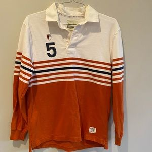American Eagle Vintage Rugby Striped Polo Shirt S